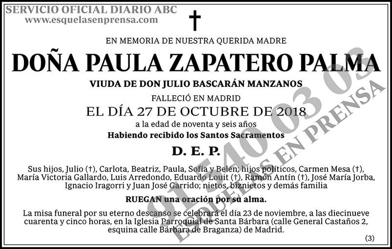 Paula Zapatero Palma
